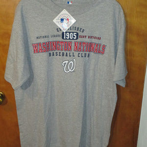 NEW 2009 MLB Washington Nationals Gray Shirt L